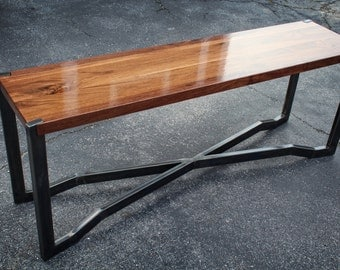 The Long One - Black Walnut and Steel coffee/sofa table