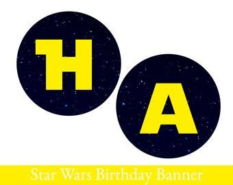 Star Wars Banner, Star Wars Birthday Banner, PRINTABLE BIRTHDAY BANNER, Star wars party, Star wars decoration, Star wars party pack