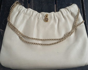 1970s Beige Leather Purse