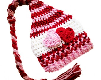 Two of Hearts Red and Pink Hat