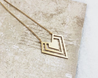 Necklace Triangle Gold / Goldfilled 18K / JN07