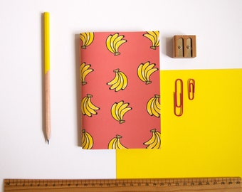 A6 Notebook / Banana Notebook / Fruity Statinoery / Pocket Notebook / Cute Stationery / Small Notebook / Gifts for Her