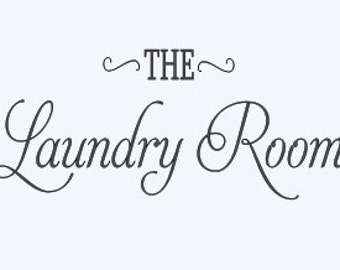 The Laundry Room. Decal for the door
