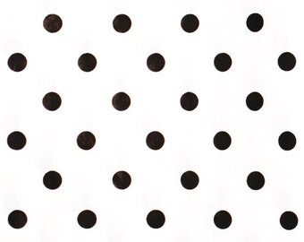 "Black Dots on White Tissue Paper # 221 / Gift Wrap -- 10 Large sheets  ... 20"" x 30"""