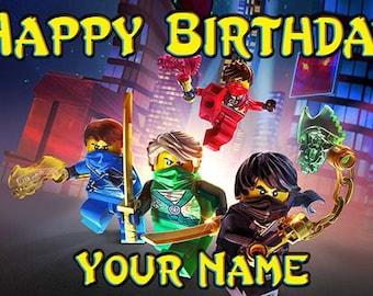 Ninjago Birthday Banner - Shadow of Ronin