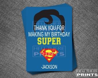 Superman Thank You Cards - Superhero