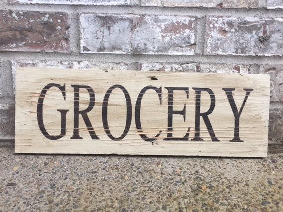 Grocery sign farmhouse decor kitchen decor home decor signs