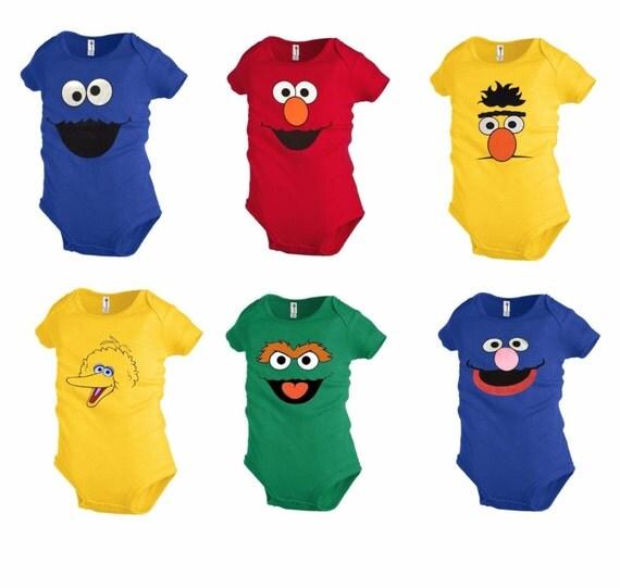 Sesame Street Romper 6 Face Cookie ,Elmo ,Grover, Big Bird ,Oscar ...