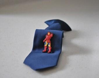 Superhero Tie Tack,Iron Man Inspired Pin,Tie Clip,Boy Children Kids Accessory,Super Hero Accessories,Boutique