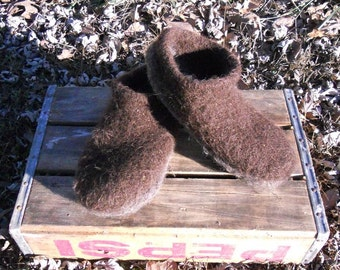 Handmade Felted Slippers US Womens size 9-10