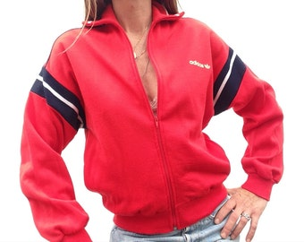 70s/80s vintage ADIDAS tracksuit jacket production Ventex jacket red blue white Deadstock