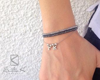 Silver Dark Grey Hematite Bracelet | 925 Silver | Beads Bracelet | Hematite Bracelet | Hematite Jewelry | Silver Bracelet | Valentines gift