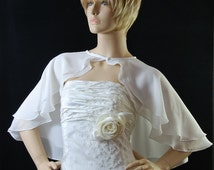 Short Flared Chiffon Cape Capelet double layered. Exclusive