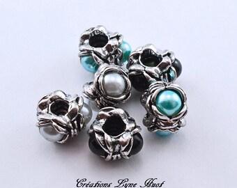 European style charm beads tibetan silver,!