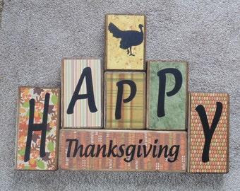 Christmas Thanksgiving Reversible Blocks