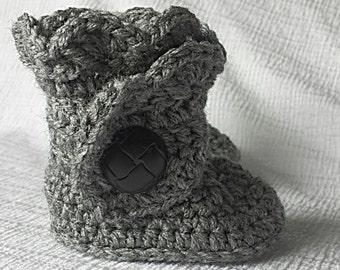 Baby Bootie, crochet baby bootie