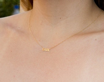 14k gold BABE necklace