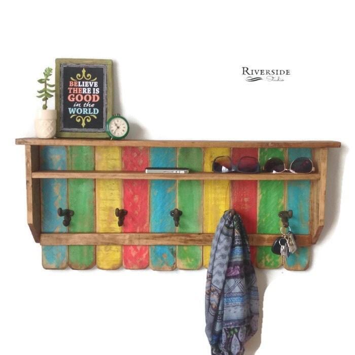 entryway wood shelf coat rack reclaimed wood shelves cast. Black Bedroom Furniture Sets. Home Design Ideas