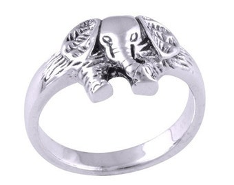 925 Sterling Silver Elephant Ring Size 5.5