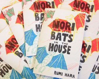 Nori and the Bats in the House - Risograph Printed Minicomic
