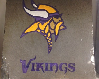 Minnesota Vikings Garden Stone, football, unique one of a kind gift