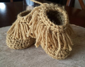 Crocheted baby Moccasins
