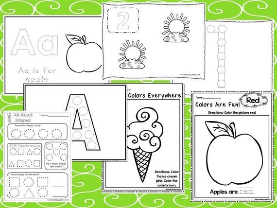 240 principio impreso preescolar hojas de trabajo. Alfabeto