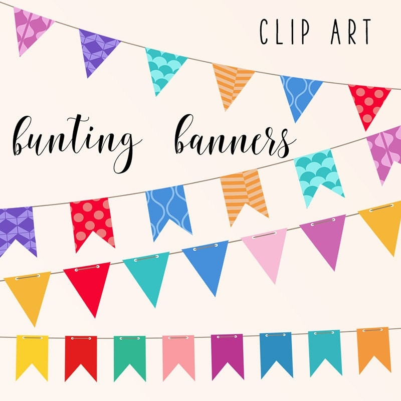 IT'S PARTY, Bunting Banners Clip Art