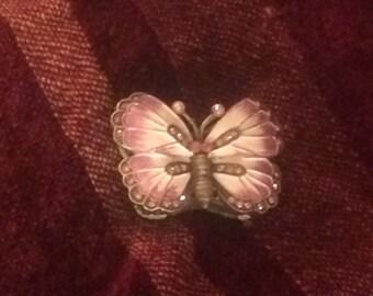 Enameled Butterfly Trinket Box