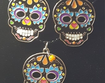 Day of the Dead Necklace set (Sugar Skull)