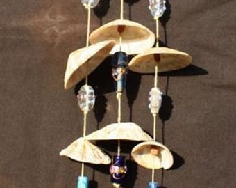 Blue Limpet Shell Windchime