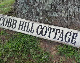 Farmhouse Sign,Cottage Signs, Painted Cottage Signs, Farmhouse Decor, Farm House Sign, Guest Cottage Signs,  Painted Cottage Sign, Cottage