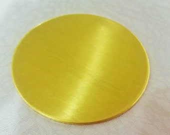 4 Pcs Raw Brass 40 mm Round Stamping Blank Disc ( No Hole -Thickness Of 1 mm ) 18 Gauge
