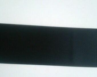 "Petersham ribbon 1-1/2"" (38mm) Grosgrain ribbon Black sold by metre Hat Making Millinery"