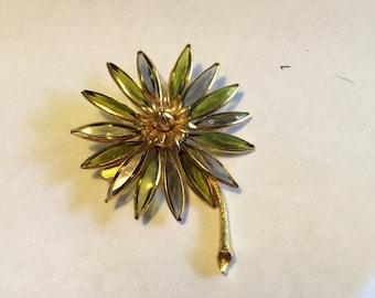 Unusual Corocraft Flower Brooch