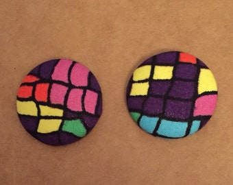 Multicolor Earring Studs