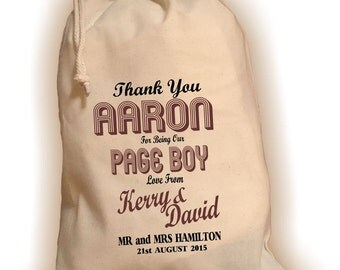 Personalised Page Boy Gift Bag - Various Sizes Available Aaron Design