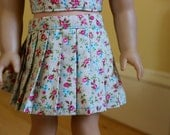 Midday Floral Pleated Skirt