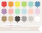 Shamrock Clipart, Clover Clip Art, St. Patrick's Day Clipart, Ireland Clipart, Icon Cute Digital Graphic Design Small Commercial Use