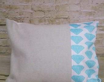 100 % ORGANIC cushion cover Precious Diamonds