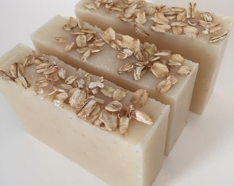 Oatmeal unscented vegan soap for dry sensitive skin
