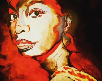 Portrait of Nina Simone - Original Artwork