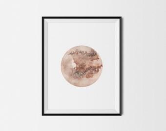 Moon art print, Nursery decor, Baby room wall art, Nursery print, Moon wall art, Nursery moon