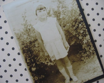 Vintage Photo Young Girl Sepia - 1930's