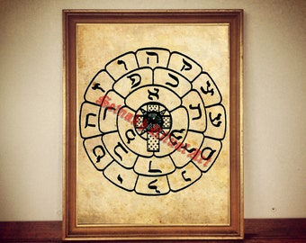 Rosicrucian sigil print, rose and cross illustration, magic poster, occult decor, #259