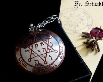 Solomon Seal, Planetary Pentacle Medallion | Mercury Venus Mars Jupiter Saturn Sun Moon | occult pendant, necklace, ritual amulet, talisman