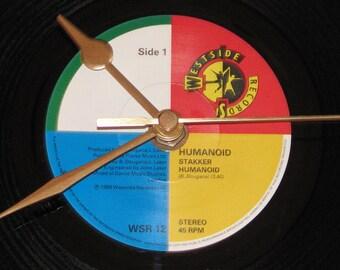 "Humanoid stakker humanoid  7"" vinyl record clock"