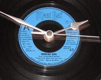 "Meat Loaf modern girl  7"" vinyl record clock"