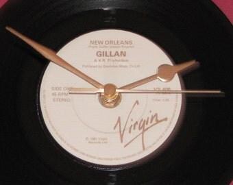"Gillan New Orleans  7"" vinyl record clock"