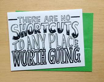 Hand Lettered Shortcuts Card